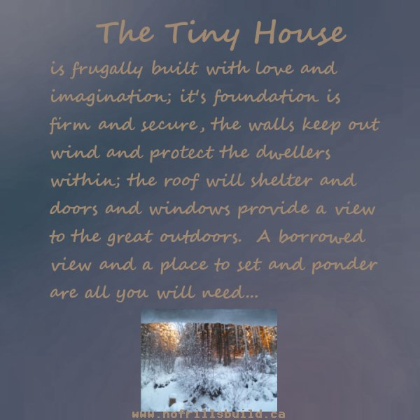 The Tiny House...what's important to you?