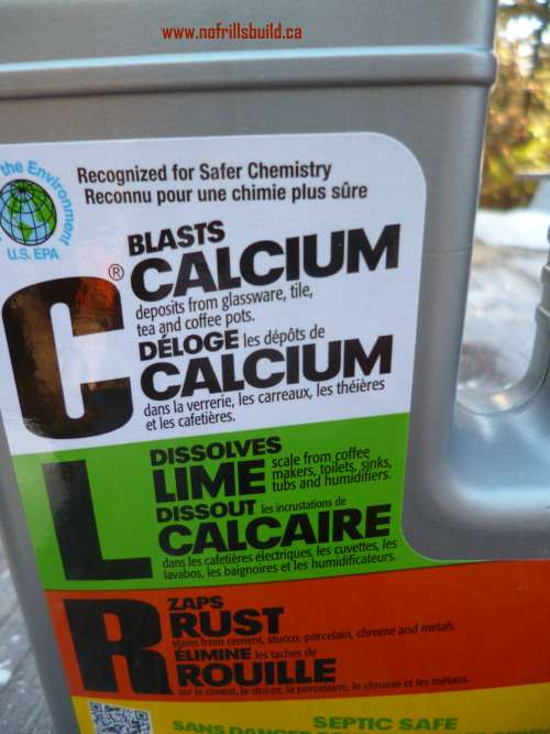 Calcium, Lime and Rust have no hope against CLR decalcifying agent