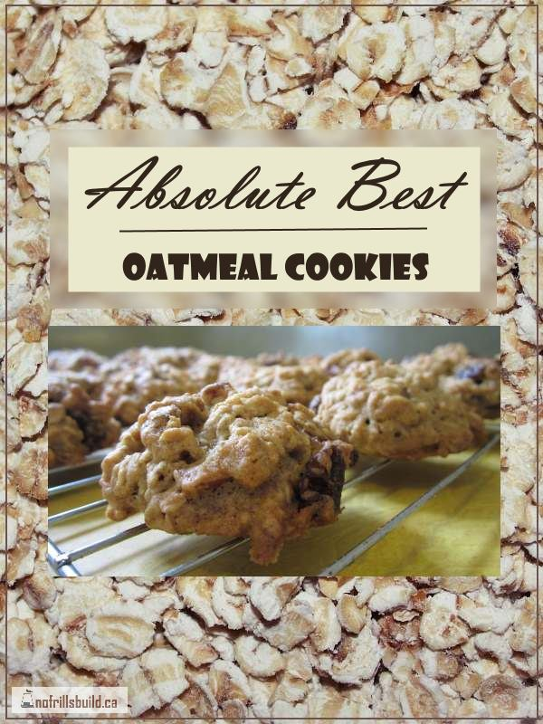 Absolute Best Oatmeal Cookies...