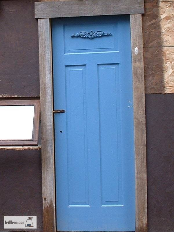 Paint it blue, and add a bit of rustic trim for something nostalgic and charming