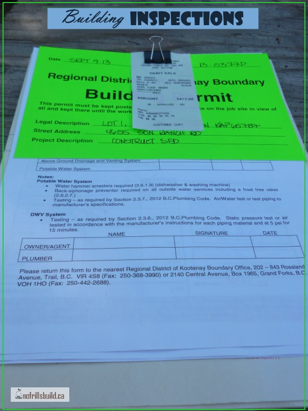Building Permit is issued...