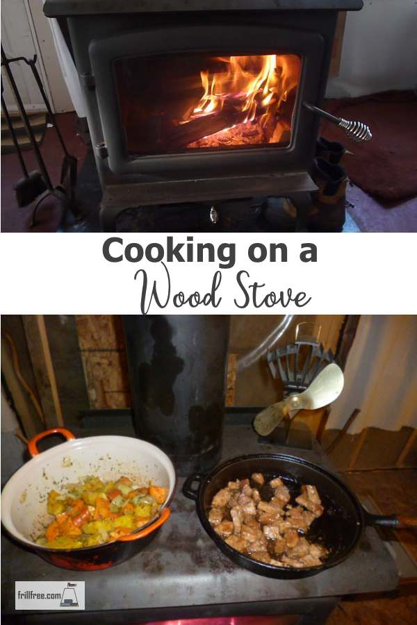 Why not use the heat from the wood stove to cook your meals?