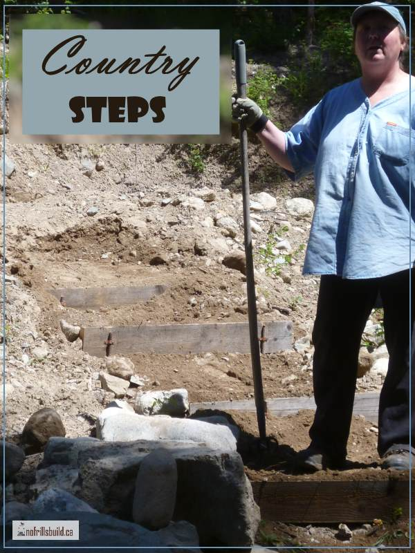 Country Steps - this is how we make them in rural areas...