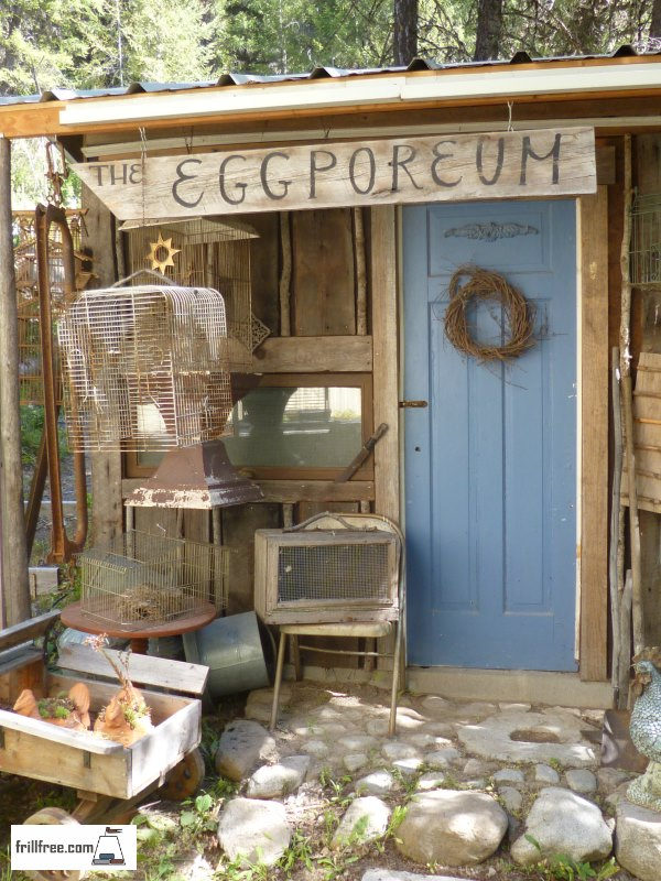 The Eggporeum - earth sheltered chicken house