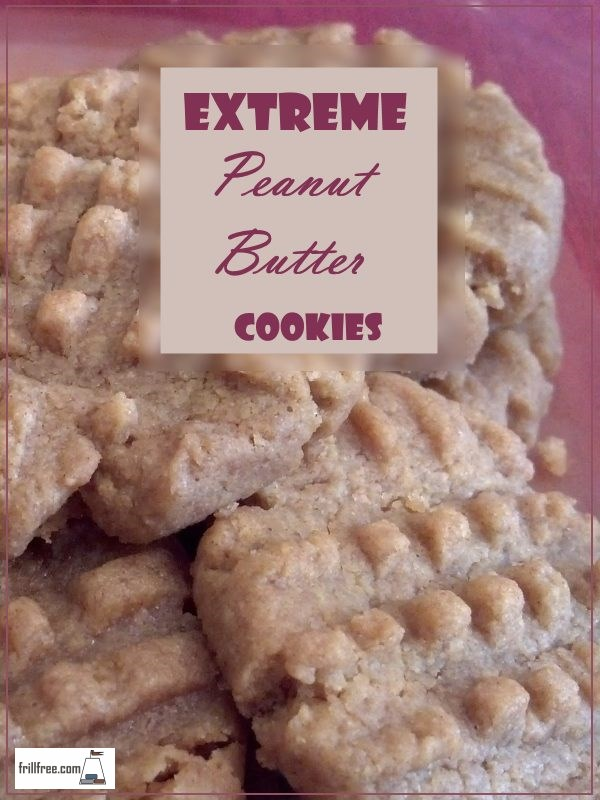 Extreme (Super Easy Gluten Free) Peanut Butter Cookies