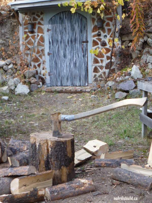 Splitting Wood the old fashioned way...