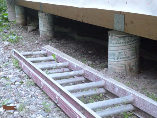 Footings - sonotubes are very economical
