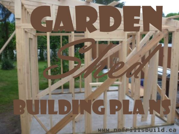 Garden Shed Building Plans