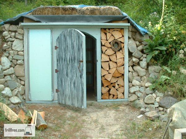 Just a test; the cordwood will look spectacular!
