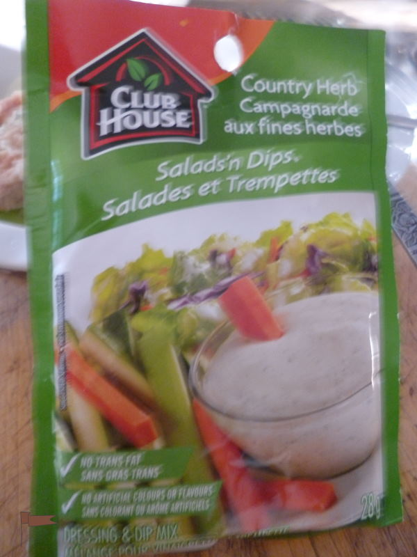 The secret ingredient; Club House Country Herb Salad Dressing Mix
