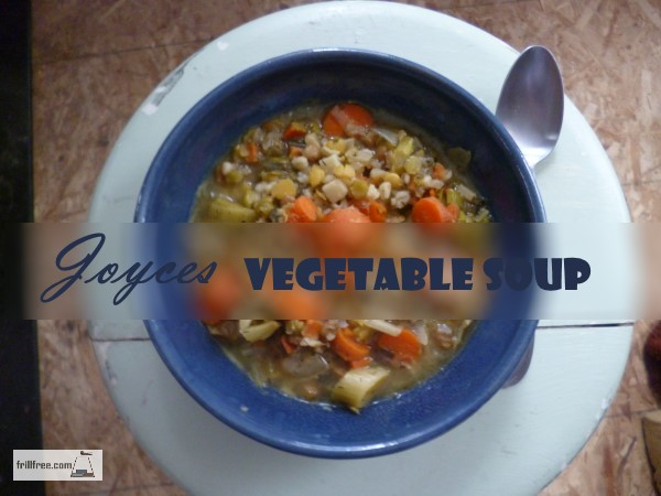 Joyces Vegetable Soup - thick and nourishing...