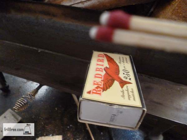 Wooden matches work best, and using two together can get the fire going extra fast...