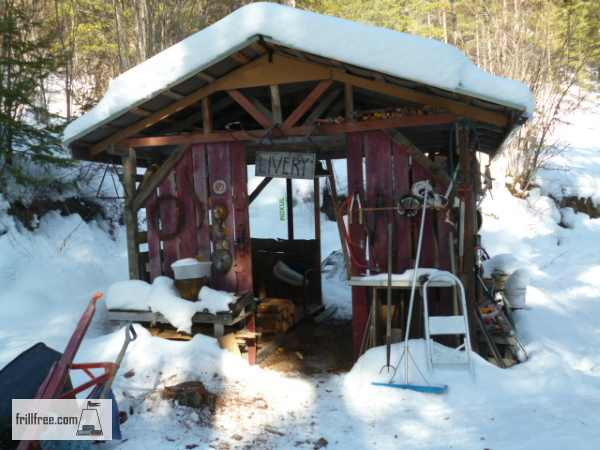 In the early stages, the woodshed wasn't much more than just a roof...