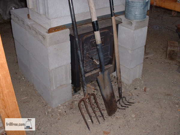 Masonry Stove with concrete blocks