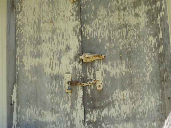 Find unique and unusual closures for ordinary plywood doors to add that distinctive difference