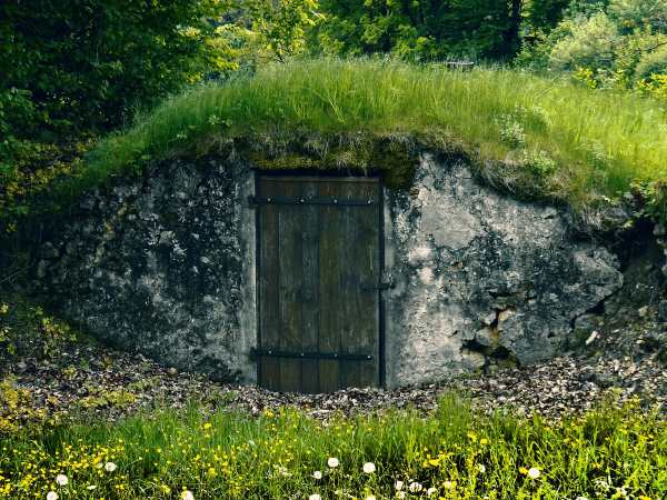 Thick Sod Roof Keeps This Root Cellar Cool