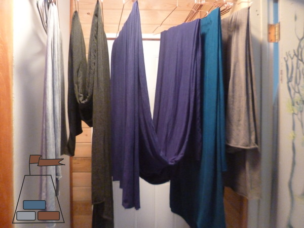 Bamboo Cotton Jersey, hanging to dry