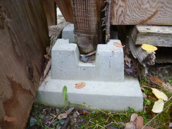 Shed Pier Foundation block