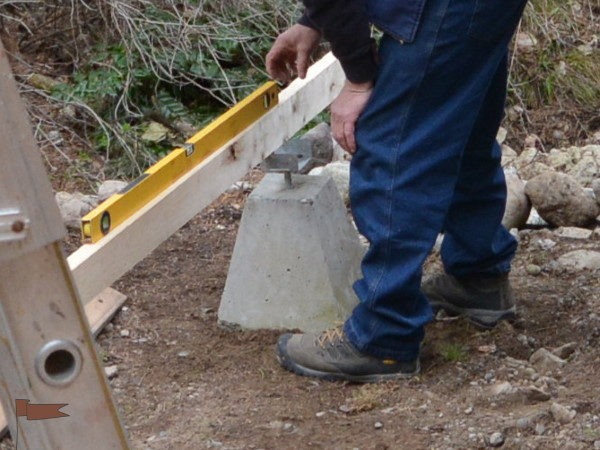 Concrete block with a hole in to use with a saddle