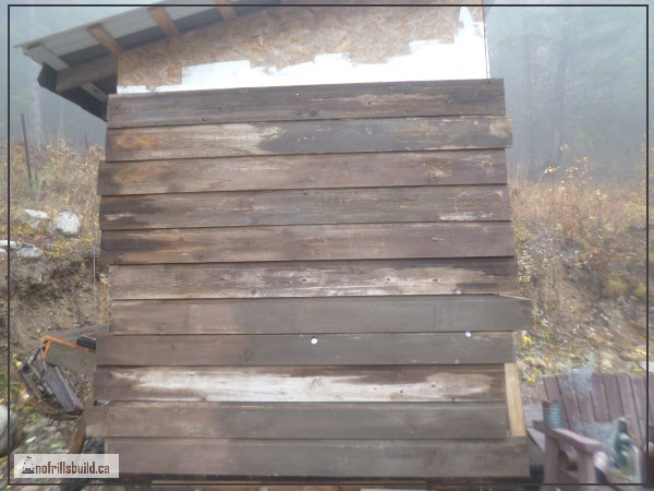 Cedar Channel Siding - reused