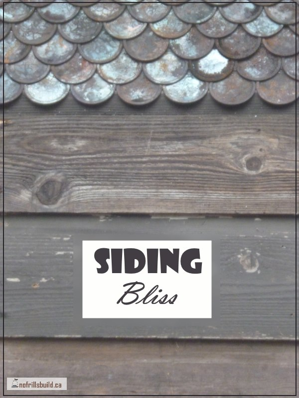 Siding Bliss - the storage shed on skids gets her finish on... Sustainable Living | Alternative Building