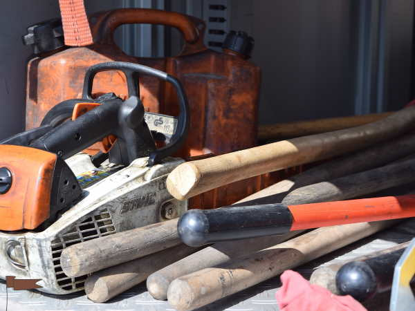 Selection of tools for preparing firewood