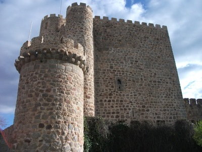 Impressive ancient castle, rebuilt from ruins