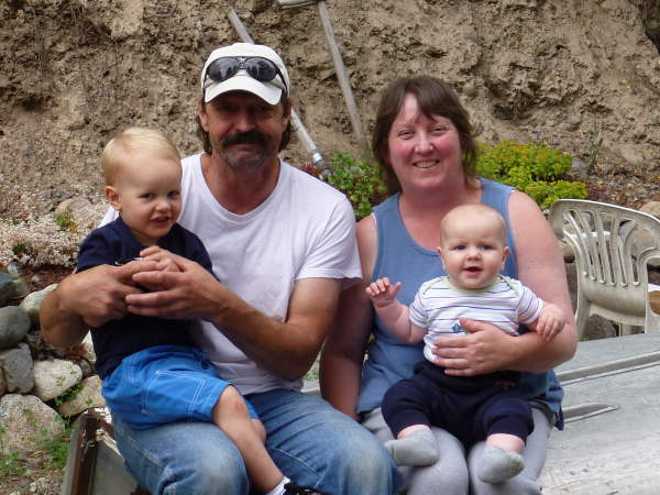 About us - with two grandbabies