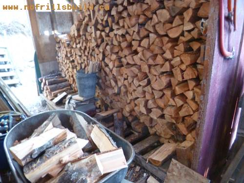 A full wood shed is a beautiful sight...