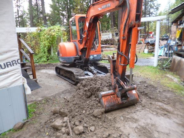 Site Prep for the mudroom