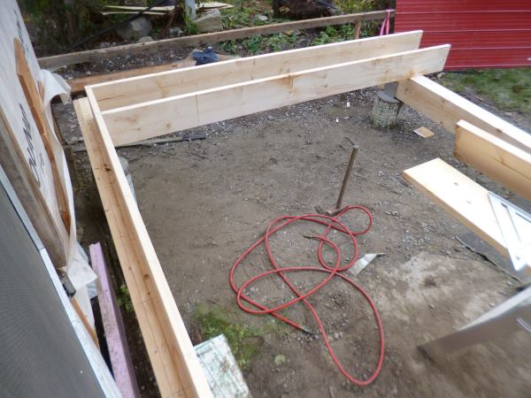 Starting to install the joists