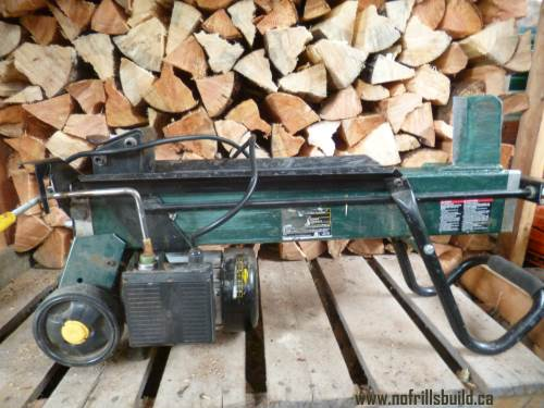 Log Splitter - it saves a lot of wear and tear...