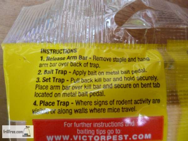 Mouse Trap Instructions