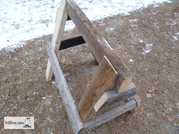 The finished sawhorse, ready to use