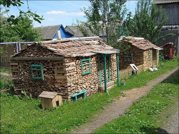 Literally, a wood shed